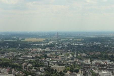 Der Rheinturm или Дюссельдорф с высоты птичьего полета